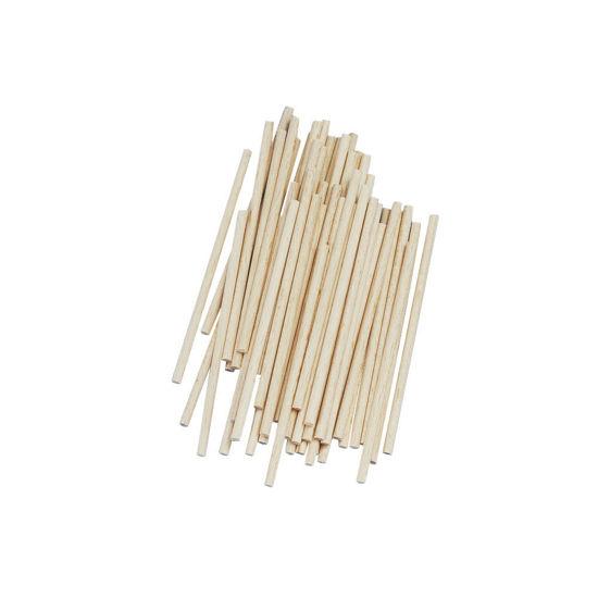 Rayher knutselhoutjes, 10 cm, diameter 4 mm, 60 stuks, 6121531