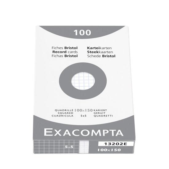 Steekkaarten wit geruit 100 x 150mm