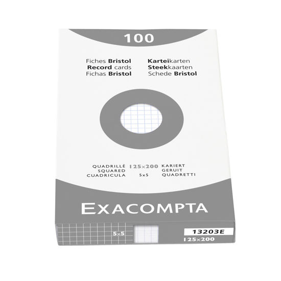 Steekkaarten wit geruit 125 x 200mm