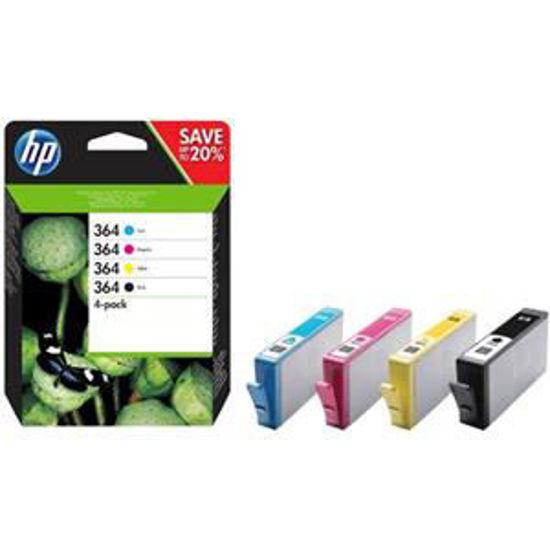 HP inktcardridge 364 combo pack, zwart 6ml, kleuren 3ml