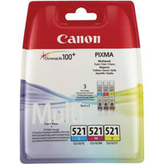 Canon CLI-521 kleur, cyaan/magenta/geel