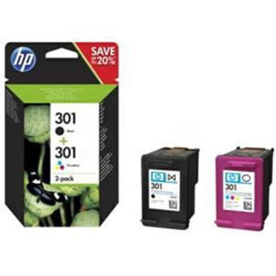 HP inktcardridge 301 2-pak zwart/kleur, 3ml
