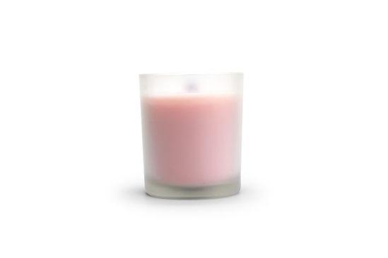 kaars medium roze mat glas